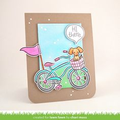 Lawn Fawn Video {5.12.15} A Bicycle Card by Chari