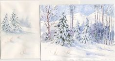 water color christmas cards | Watercolor Christmas Card Ideas - Design you own Watercolor Cards