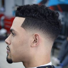 Low Skin Fade with Curly Hair