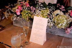 El Menú, con un lindo centro de mesa...