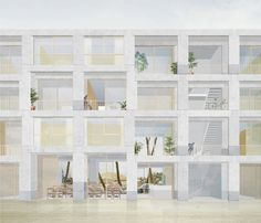 _Similarité_ is a reflexion on the expressivity of collective housing. This works intends to devise a methodology aiming to establish a relation of _similari. Architecture Panel, Architecture Graphics, B Image, Facade Design, Most Beautiful Pictures, Photoshop, Layout, Abstract, Drawings