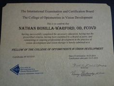 After 4 years of effort, I'm now FCOVD. To anyone who wonders if it is worth it, I say it definitely is! #covd2014
