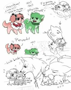 Perona, Zoro, and Mihawk as puppy dogs! :D