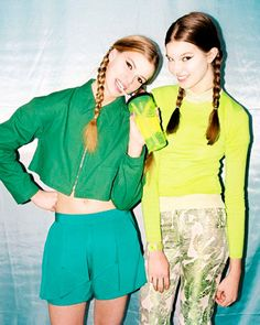 green & lime womenswear  via letmyinspirationflow.tumblr.com