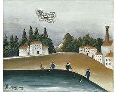 Henri Rousseau, dit Le Douanier Rousseau (1844-1910) Les Pêcheurs à la ligne, 1908-1909 Oil on canvas.