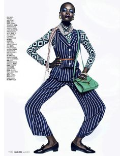 strong suit: aluad deng anei by kope | figgins for marie claire south africa april 2013 | visual optimism; fashion editorials, shows, campaigns & more!
