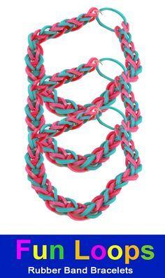 Rubber Band Bracelet Loom   Loom Bands - Fun loops