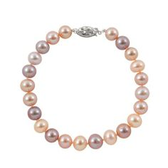 "Freshwater Pearl Bracelet, 7. Multicolor 8.5-9.5mm Round ""A"" Quality. White Gold Filigree Clasp PEARLZZZ. $90.00. White Gold Filigree Clasp. Freshwater Pearl Bracelet. Free Shipping. 7. Multicolor 8.5-9.5mm Round ""A"" Quality"