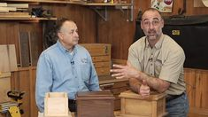 Master woodworkers George Vondriska and AJ Moses discuss the process for making an wooden ornamental cremation cask.