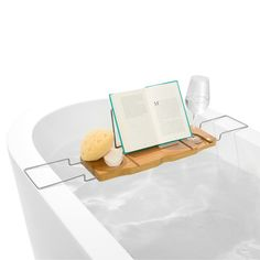 Bamboo Bath Caddy - for bathroom with bath bombs