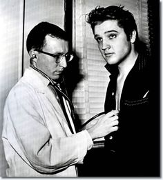 Elvis on Jan 4th 1957 at Kennedy Veterans Hospital, Memphis for his army pre-induction