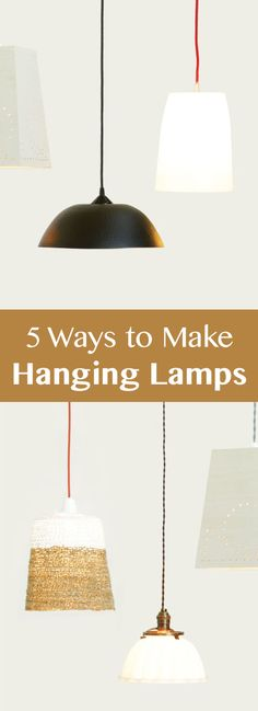 Pendant (hanging / swag) lamps are maybe the most versatile of all indoor lamps. You don't even need a table to put them on. They can go ANYWHERE in a room because, conveniently, ceiling is everywhere! :)