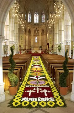 Corpus Christi Carpet of Flowers at Arundel Cathedral