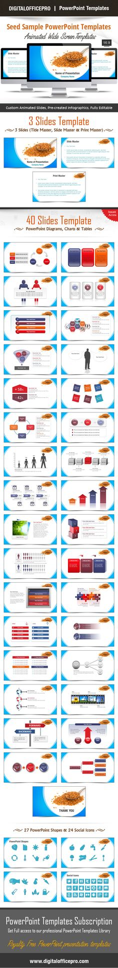 Impress and Engage your audience with Seed Sample PowerPoint Template and Seed Sample PowerPoint Backgrounds from DigitalOfficePro. Each template comes with a set of PowerPoint Diagrams, Charts & Shapes and are available for instant download.