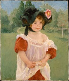 "Mary Cassatt - ""Spring- Margot Standing in a Garden"" (Fillette dans un jardin), 1900 Oil on canvas. The Metropolitan Museum of Art Renoir, Camille Pissarro, Monet, Mary Cassatt Art, Oil On Canvas, Canvas Wall Art, Framed Canvas, Canvas Prints, American Impressionism"
