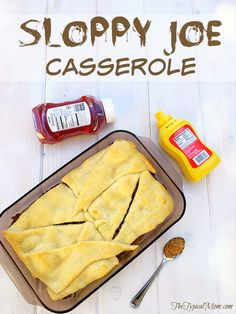 EASY sloppy joe casserole recipe using just 5 ingredients and ready in less than 20 minutes flat!