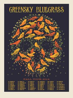 GREENSKY BLUEGRASS TOUR | Limited Edition Gig Posters Archives - Methane Studios