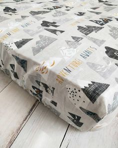 Mountain Fitted Crib Sheet for Baby Boy Nursery  by TheCuddlyQuilt
