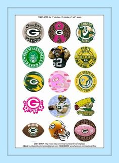 wanting to make a bottle cap necklace. Bottle Cap Jewelry, Bottle Cap Necklace, Bottle Caps, Bottle Top Crafts, Bottle Cap Projects, Image Sheet, Bottle Cap Images, Green Bay Packers, Badges
