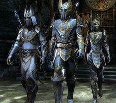 Aldmeri Dominion Style Fantasy Armor, Medieval Fantasy, Character Art, Character Design, Science Fiction, O Hobbit, High Elf, Elder Scrolls Online, Knight Art