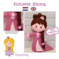 PDF patroon Prinses Emma vilt patroon pop patroon door SuperSkattig