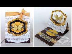 Karen Burniston: Stampin' Up! Pop 'n Cuts Flying Easel Card (Alternative: SIzzix oder Spellbinders Labels)
