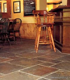 Rustic Multicolour Slate Tiles, Slate Flooring, Wall Tiles, Bar Stools, Chinese, Rustic, Furniture, Color, Home Decor