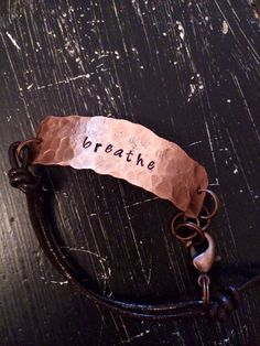 Breathe just breathe bracelet or necklace rustic by CENTiment, $22.00