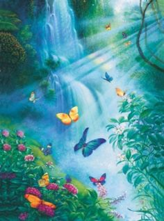 Butterflies In The Mist - 3000pc Sunsout Jigsaw Puzzle