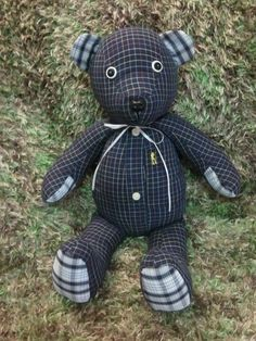 I make Memory Bears from loved ones clothing. This one is made from one of my Dads shirts. creativecraftsbydawn.webs.com  Fallow me on Facebook: Creative Crafts by Dawn