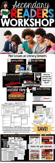 READERS WORKSHOP FOR HIGH SCHOOL AND MIDDLE SCHOOL: Check out these lessons and activities from Room 213