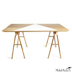 Copper Sawhorse Desk
