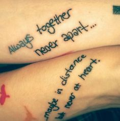 best friend quote tattoo - - List of the most beautiful tattoo models Friendship Tattoo Quotes, Best Friend Tattoo Quotes, Best Friend Symbol Tattoo, Small Best Friend Tattoos, Tiny Tattoos For Girls, Tattoos For Daughters, Friendship Symbols, Women Friendship, Couple Tattoo Quotes