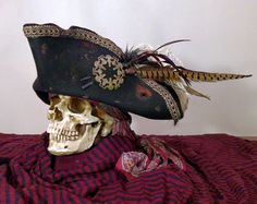A pirate Captain rules through fear and grand intimidation, and this hat announces one's rank without the need of uttering a single word. Pirate Halloween, Halloween Costumes, Teen Costumes, Woman Costumes, Couple Costumes, Pirate Costumes, Princess Costumes, Group Costumes, Couple Halloween