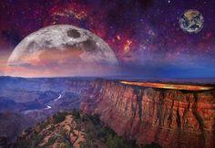 Φαντασία, Τοπίο, Ηφαίστειο, Λάβα, Ουρανό, Γαλαξία, Χώρο