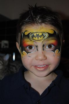 Aimees Creations ||  colorful batman face painting design