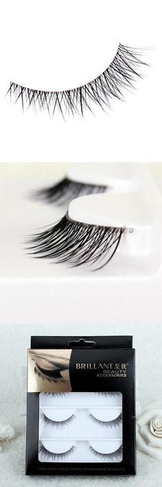 [Visit to Buy] 3 pcs/lot 100% high qulity natral handmade Real mink fur false eyelash 3D strip mink lashes  fake faux eyelashes Makeup beauty #Advertisement
