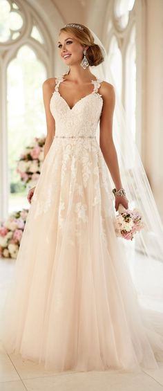 Sweetheart beading applique lace wedding dress