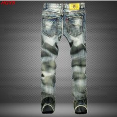 Dashing Fashion Trend Youth Style Mature Black Wall Wind Autumn New Spider Print Jeans Washed Multi-pocket Feet Slim Stretch Trousers Men's Clothing