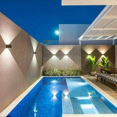33 Gorgeous Small Pool Design Ideas You Must See - When deciding to buy an in ground swimming pool, there are many things to consider regarding the pools design. First, think about how big the pool sh. Small Backyard Pools, Backyard Pool Designs, Small Pools, Swimming Pools Backyard, Swimming Pool Designs, Pool Landscaping, Landscaping Design, Swimming Pool Lights, Small Pool Design