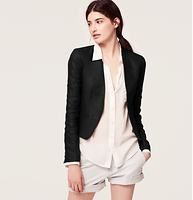 Petite Cropped Linen Open Jacket | http://www.loft.com/petite-cropped-linen-open-jacket/337118?colorExplode=false&skuId=15902139&catid=cat220010&productPageType=fullPriceProducts&defaultColor=6600