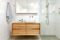 Bathroom ideas: How do you get a luxe look for less? - The Interiors Addict Bathroom ideas: How do you get a luxe look for less? - The Interiors Addict Recycled Timber Furniture, Timber Vanity, Timber Bathroom Vanities, Bathroom Furniture, Bathroom Before After, Bathroom Renos, Bathroom Ideas, Bathroom Inspiration, Bathroom Gallery