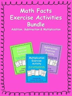 Have your students practice their addition, subtraction, and multiplication facts through this fun, engaging, kinesthetic activity!  Your students will be shown a math fact -  they will solve it and the sum/difference will be the amount of a certain exercise they need to do.