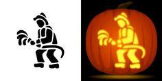Fireman pumpkin carving stencil. Free PDF pattern to download and print at http://pumpkinstencils.org/download/fireman-pumpkin-stencil/