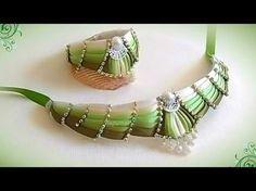 Колье-чокер и браслет своими руками из косой бейки, Мк Лерита / DIY necklace - YouTube