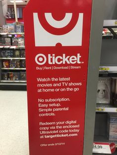 """Only someone as old as I would recognize the Target® icon for """"Target Ticket"""" is half a movie ticket, with a single perf-split, punched hole. I think I would have used an entire ticket as the icon,..."""