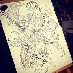 Japanese Tiger Tattoo, Geisha, Asian Tattoos, Japan Tattoo, Kuniyoshi, Irezumi Tattoos, Desenho Tattoo, Japanese Prints, Oriental