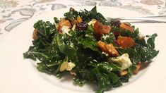 Cook with Sara: Roasted Butternut and Kale Salad with Goat Cheese Roasted Squash, Roasted Butternut, Amazing Salad, Goat Cheese Salad, Kale Salad, Dried Cranberries, How Sweet Eats, Original Recipe, Seaweed Salad