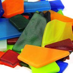 Tumbled Sea Glass Pieces Manmade Machine Tumbled
