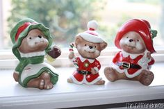 Vintage Home Interior Homco Christmas Bears Set Of 3 Figurines Collectible B-1 • CAD 17.99 - PicClick CA